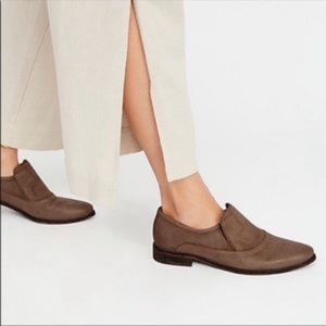 Free People Casey Pointed Slip On Loafers